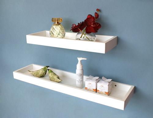 white floating multi shelf 800x150x40mm mastershelf. Black Bedroom Furniture Sets. Home Design Ideas