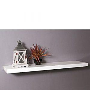 gloss white floating shelf 1200x250x50mm mastershelf rh mastershelf co uk Large Floating Shelves Large Floating Shelves