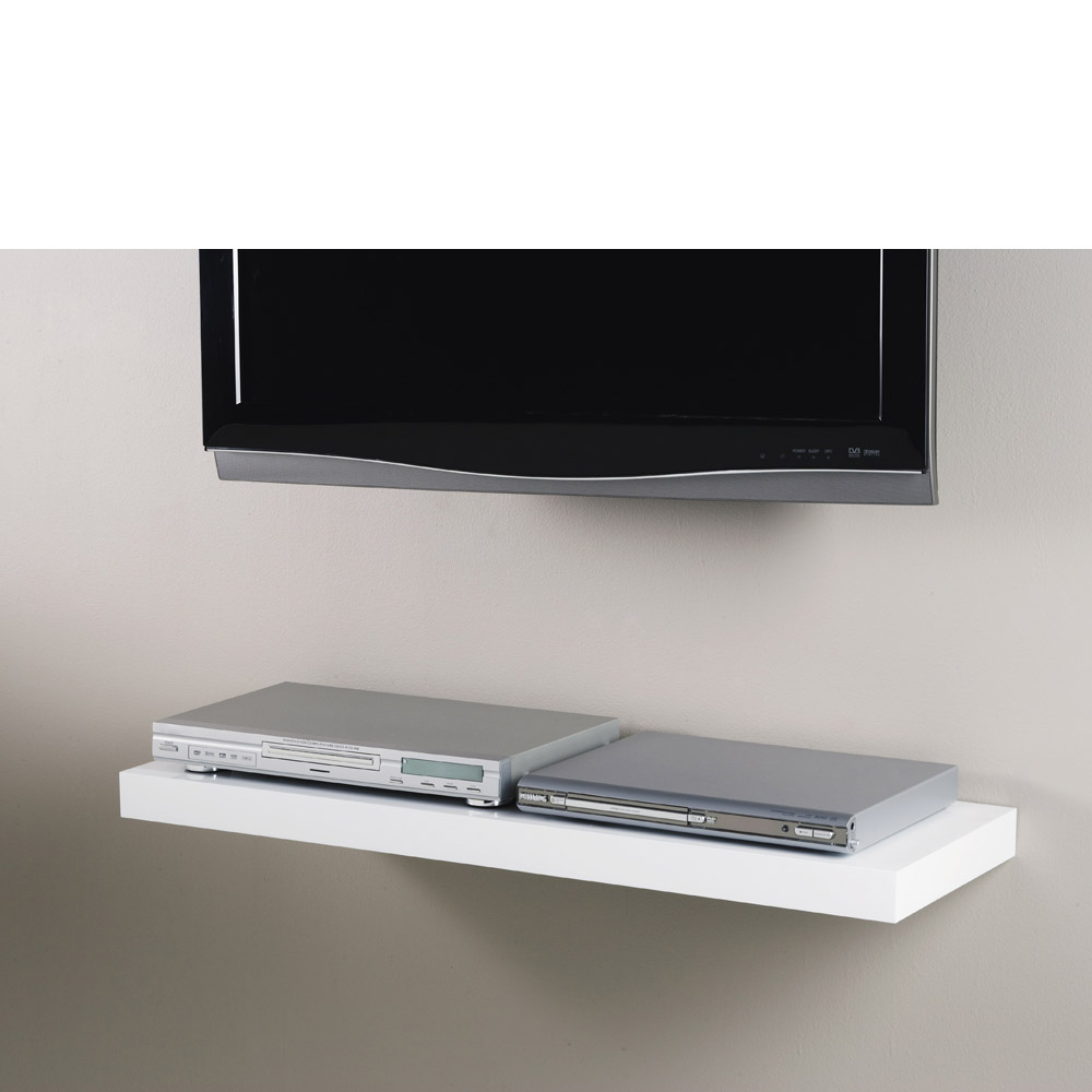 White Floating Shelf Kit 900x300x50mm Mastershelf