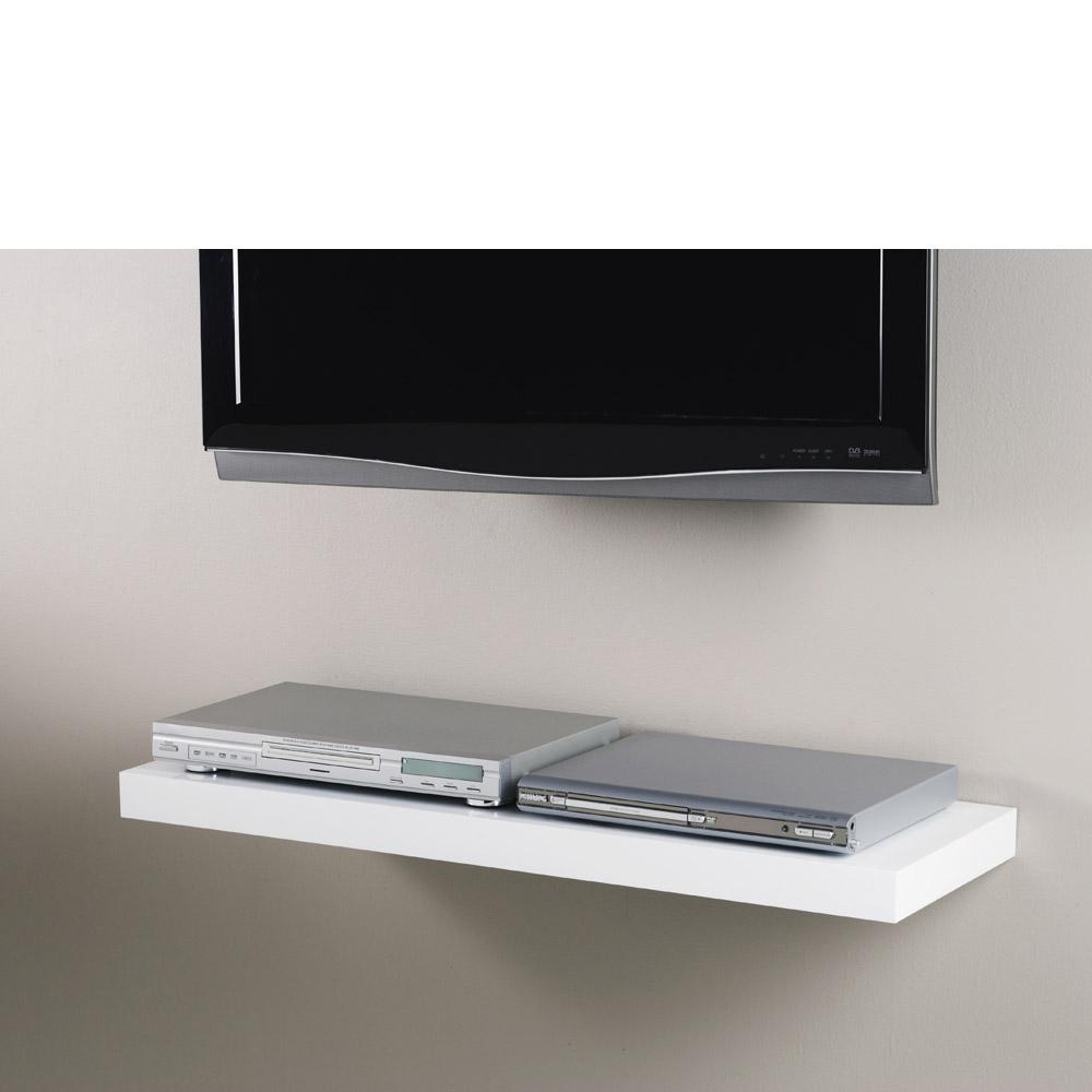 white floating shelf kit 900x300x50mm mastershelf. Black Bedroom Furniture Sets. Home Design Ideas