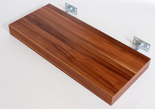 Walnut Floating Shelf Kit 570x250x50mm Mastershelf