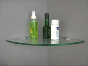 Mm Very Small Glass Corner Shelf