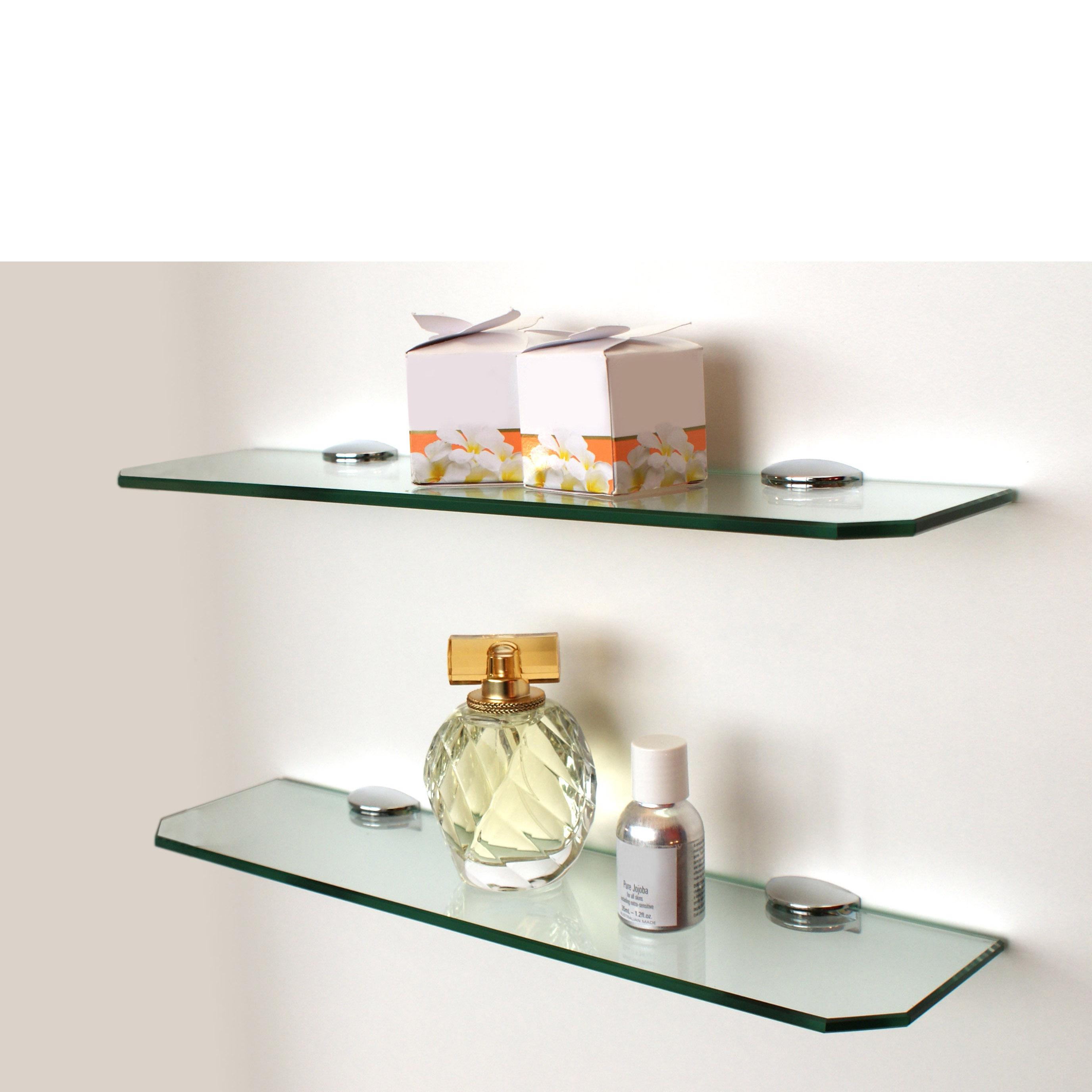 Small Glass Shelf Kit 400x100x6mm Mastershelf