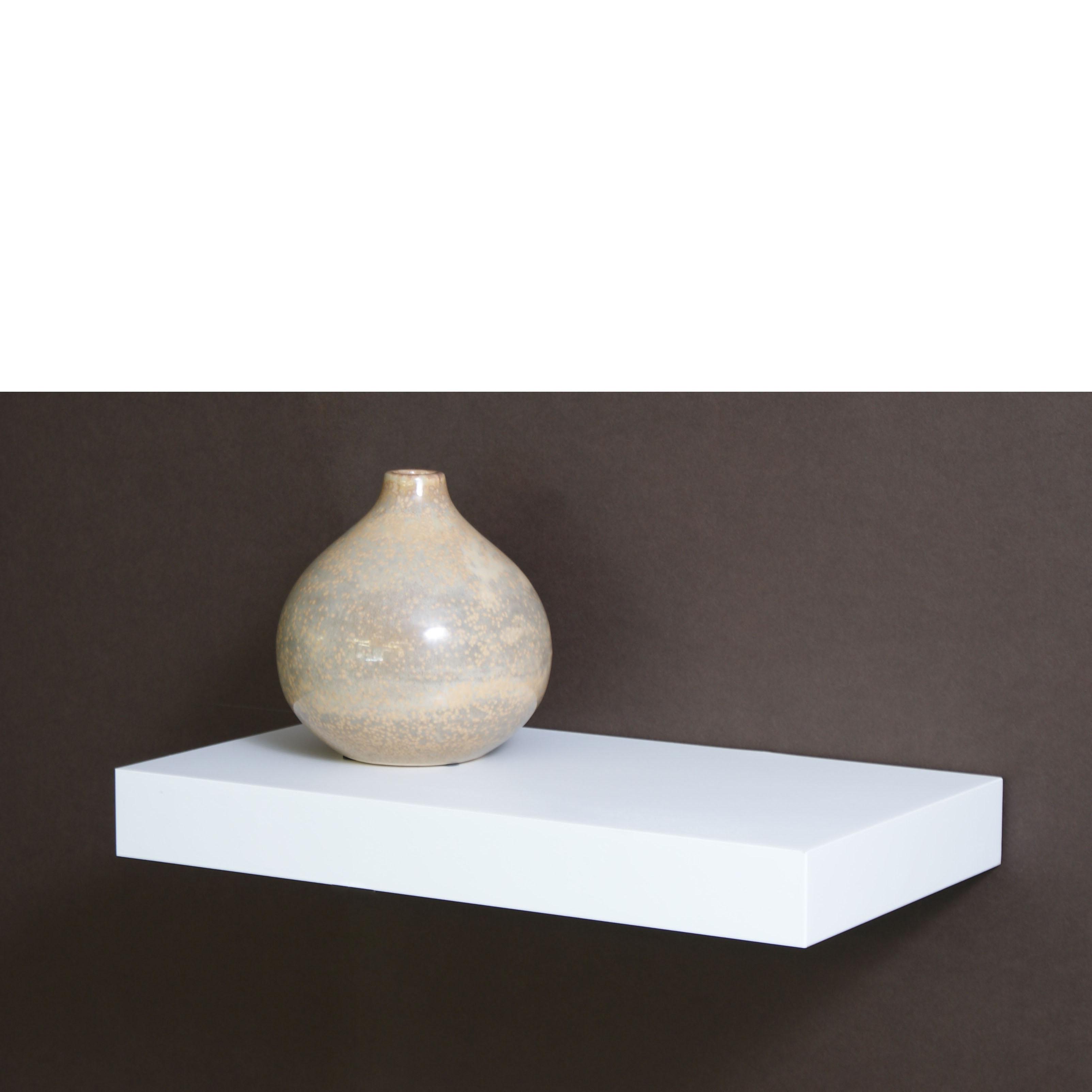 white floating shelf kit 445x250x50mm mastershelf. Black Bedroom Furniture Sets. Home Design Ideas