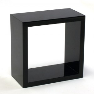 Admirable Gloss Black Wall Cube Shelf 20X20X10Cm Home Interior And Landscaping Ologienasavecom