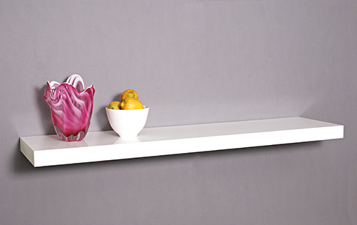 Gloss White Floating Shelf 1200x250x50mm Mastershelf