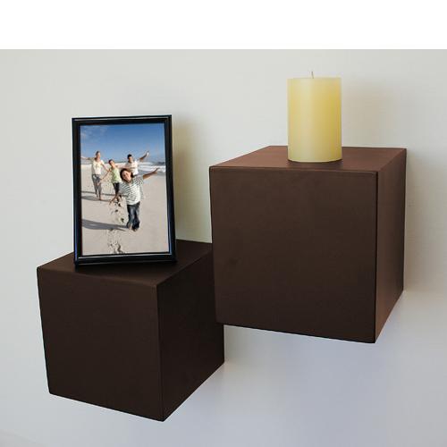 Espresso Block Floating Shelf 150x150x150mm Mastershelf