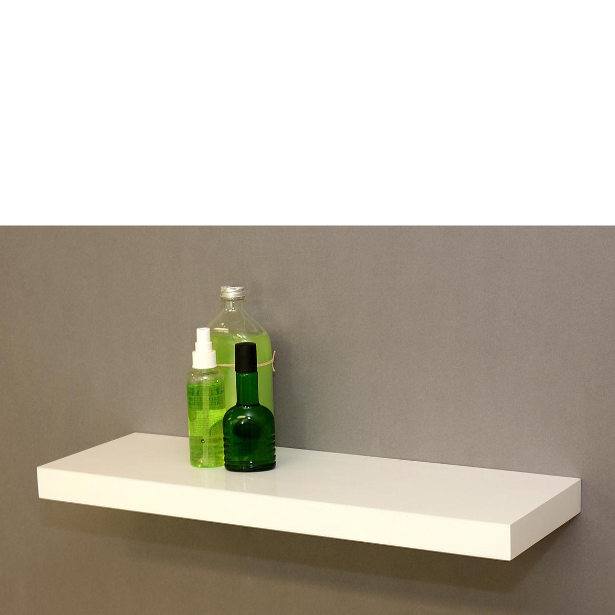 gloss white floating shelf 600x200x38mm mastershelf. Black Bedroom Furniture Sets. Home Design Ideas