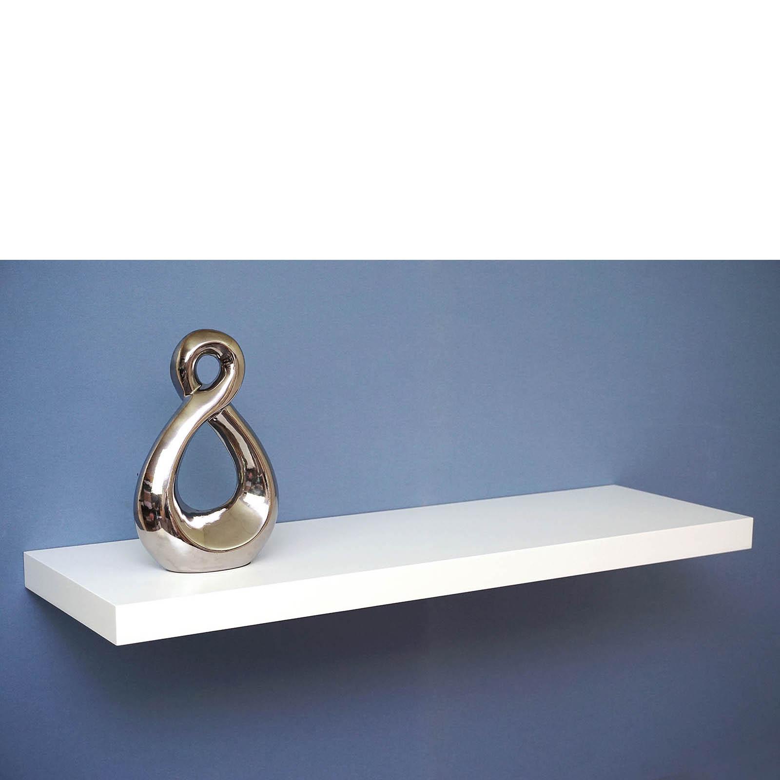 White Floating Shelf Satin White Floating Shelf 800x250x38mm Mastershelf
