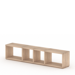 4x1 oak cube shelf