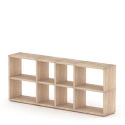 4x2 mixed cube shelf