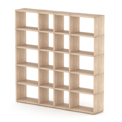 5x4 mixed oak cube shelves