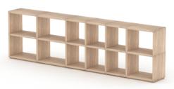 Oak modular shelf