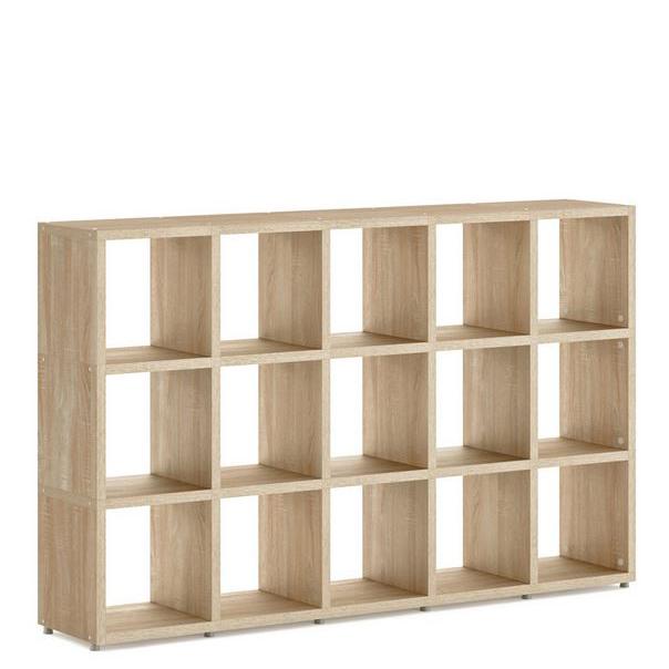 Oak Modular 3x5 Cube 1808l X 1096h X 328d Mastershelf