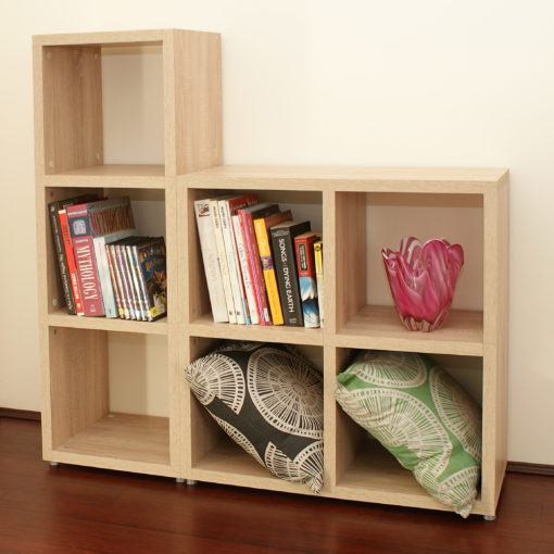 Modular 7 Cube Oak Also Available In White Mastershelf