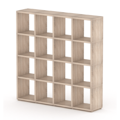 Oak cube shelf 4x4