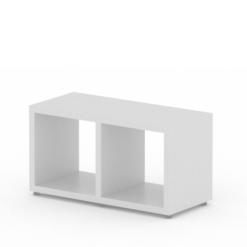 White cube storage 2 x 1