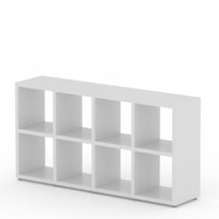 4x2 white cube shelf