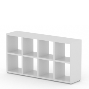 4x2 white cube shelf