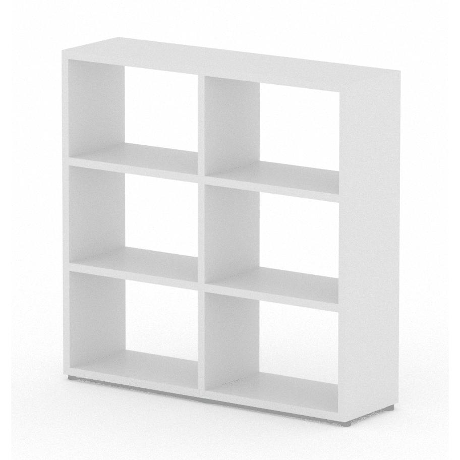 Modular 6 Wide Cube White 1168l X 1096h X 328d Mastershelf
