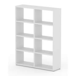2x4 wide white cube shelf