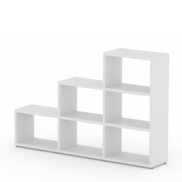 3 step white shelf