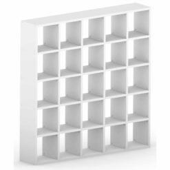 5x5 white cube shelves