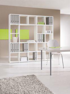 Mixed modular shelving unit