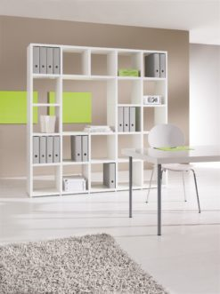 Mixed modular shelving unit