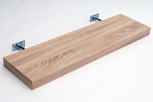 Oak Floating Shelf Kit 900x250x50mm Mastershelf