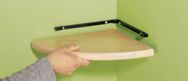 Corner Floating Shelf 300x300x22mm Mastershelf