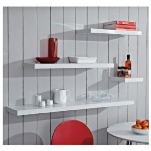 gloss white floating shelf 600x250x38mm mastershelf. Black Bedroom Furniture Sets. Home Design Ideas