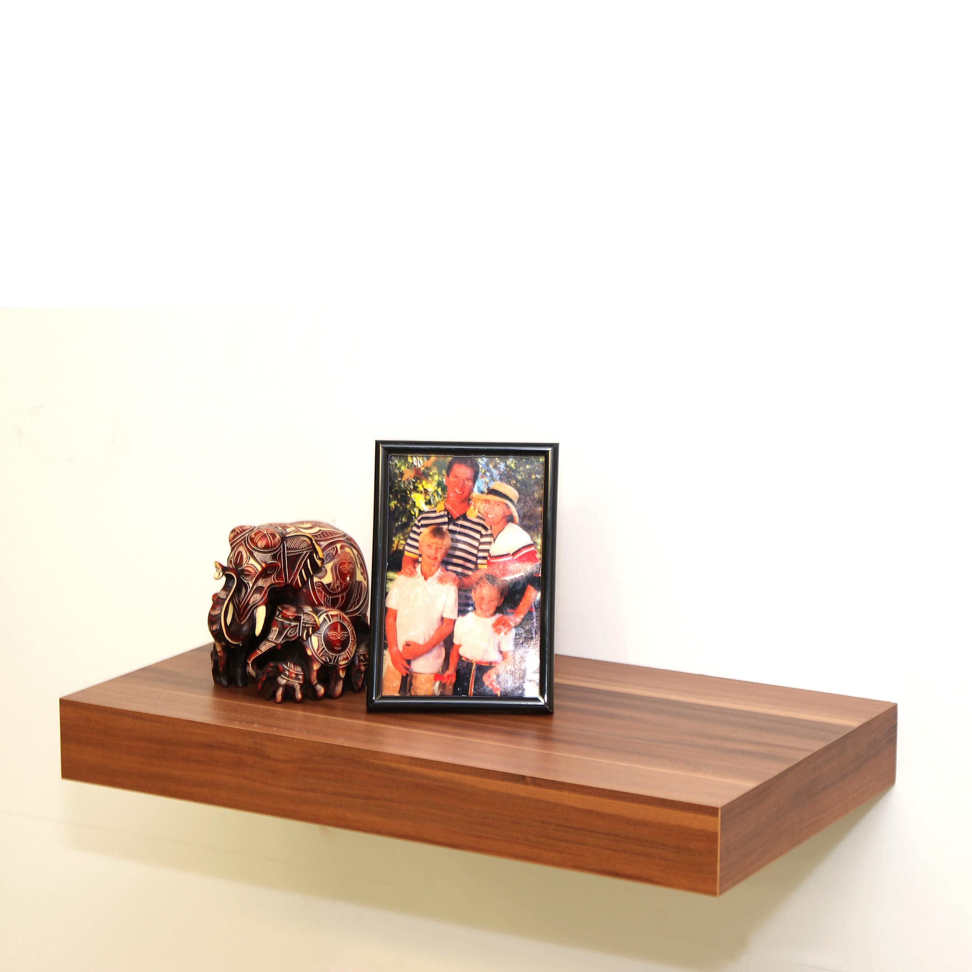 Walnut Floating Shelf Kit 445x250x50mm Mastershelf
