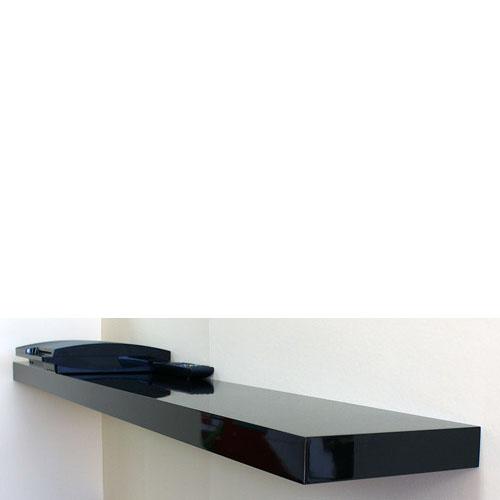 High Gloss Black Floating Shelf