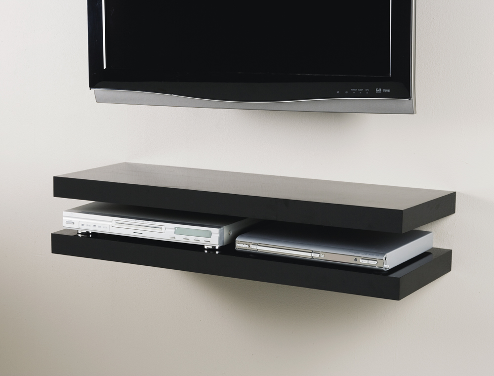Black Corner Wall Shelf