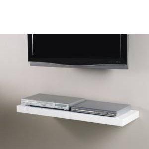White Media Floating Shelf Kit 900x300x50mm Mastershelf