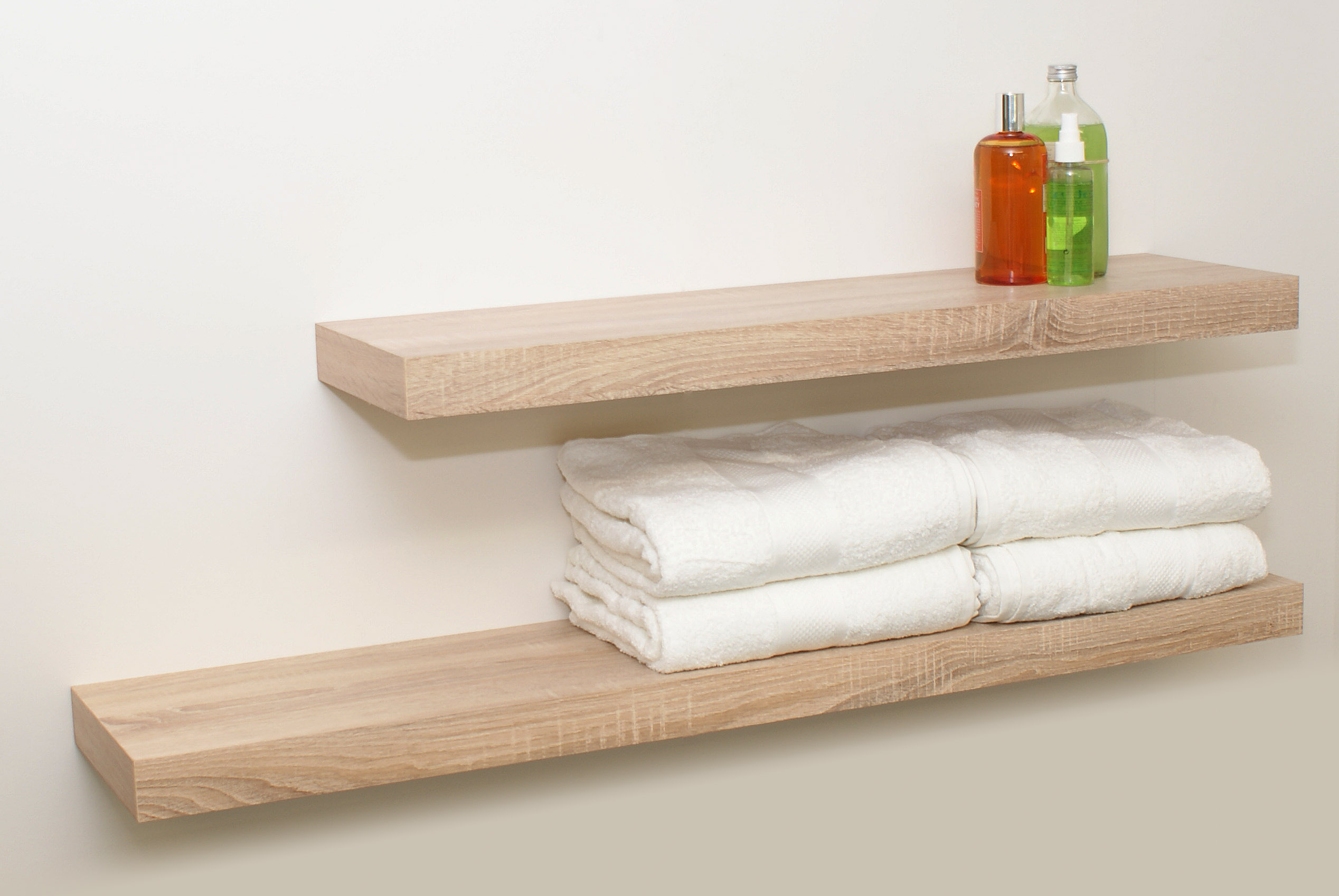 Oak floating shelf kit mm mastershelf