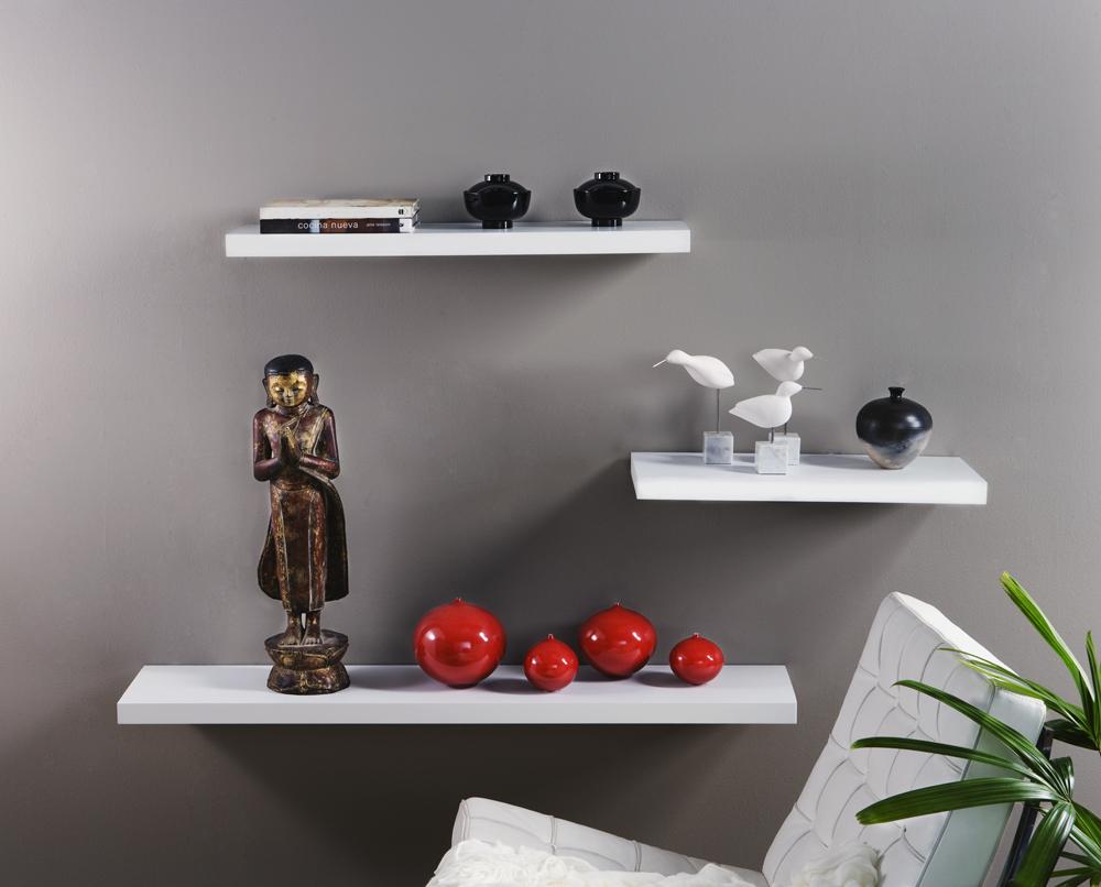 satin white floating shelf 600x250x38mm mastershelf. Black Bedroom Furniture Sets. Home Design Ideas