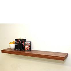 Long walnut floating shelf kit