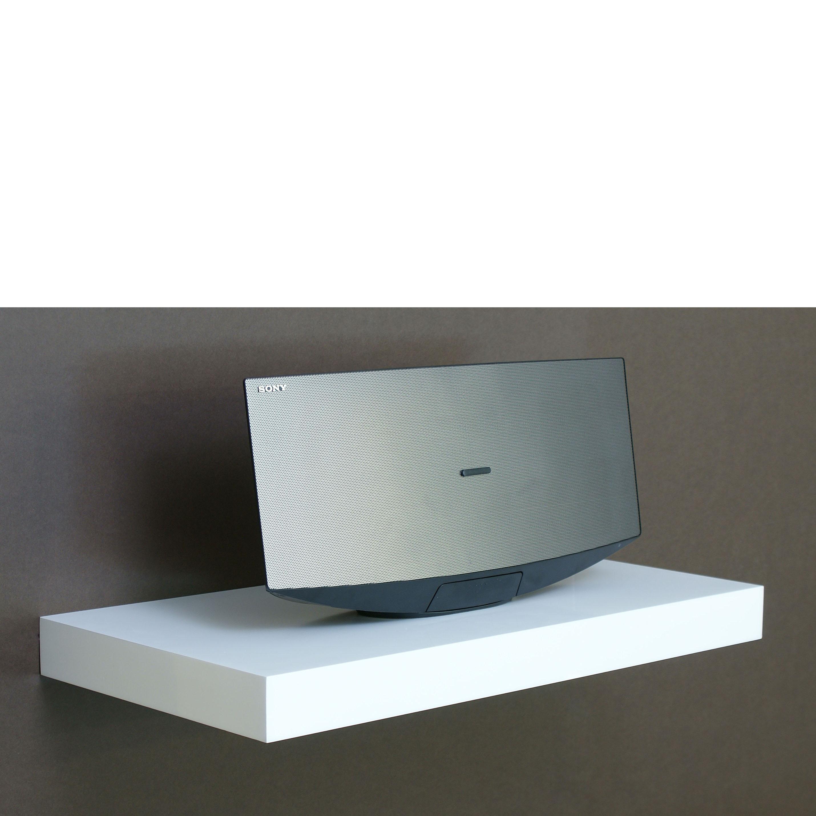White Floating Shelf Gloss White Floating Shelf 600x300x50mm Mastershelf