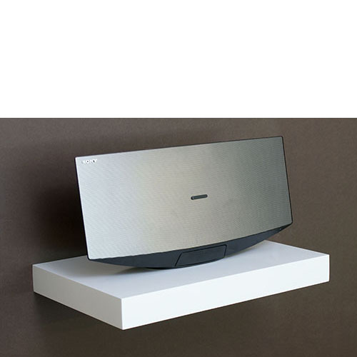 White Media Floating Shelf Kit 450x300x50mm Ebay