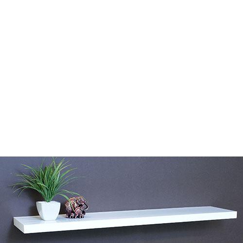 gloss white floating shelf 1200x250x38mm mastershelf. Black Bedroom Furniture Sets. Home Design Ideas