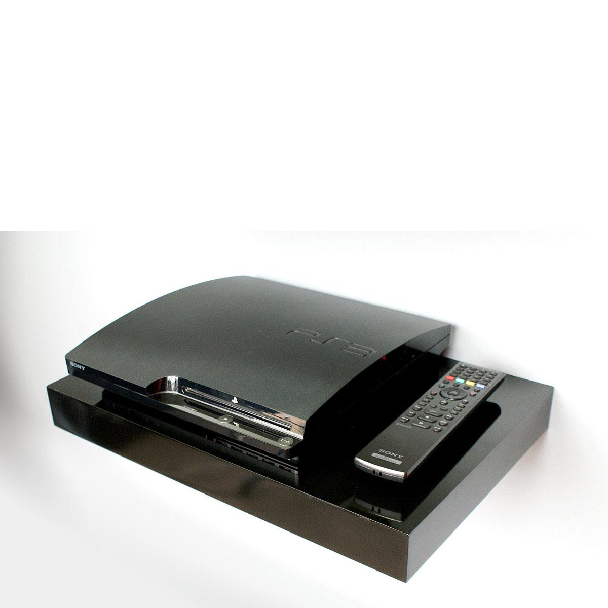 Black Media Floating Shelf Kit 450x300x50mm