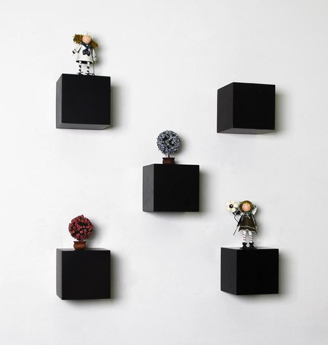 Black Block Floating Shelf 150x150x150mm Mastershelf