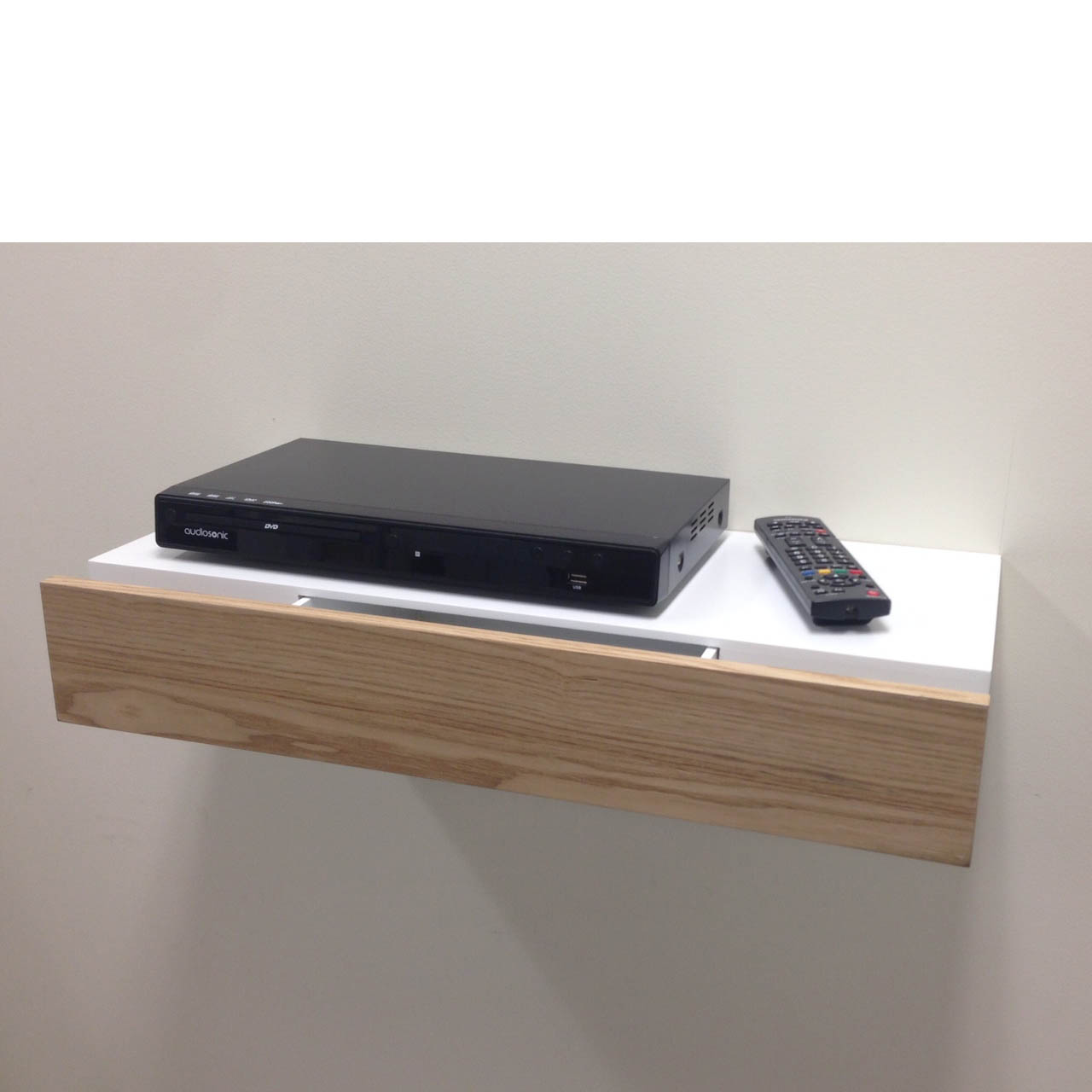 Floating Shelf With Ash Drawer 600x250x100mm Mastershelf