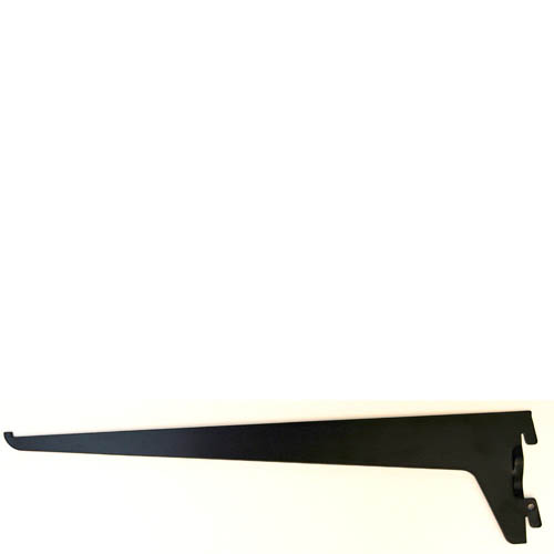 single slot black bracket 250mm mastershelf. Black Bedroom Furniture Sets. Home Design Ideas