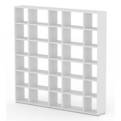 Large white modular shelf