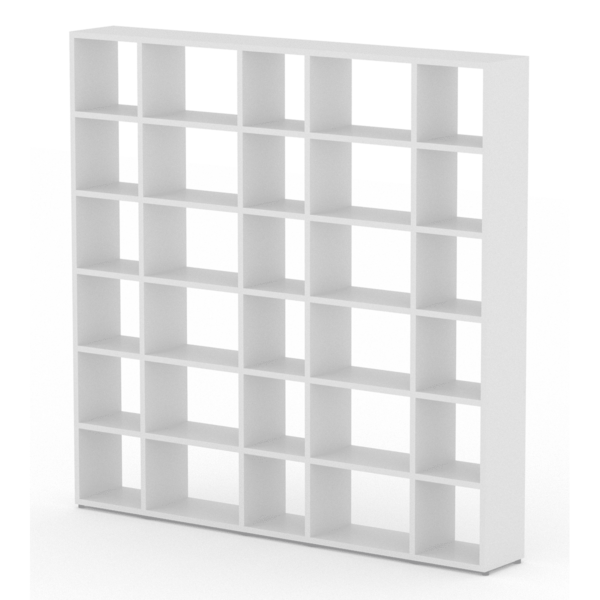 Large white modular shelf