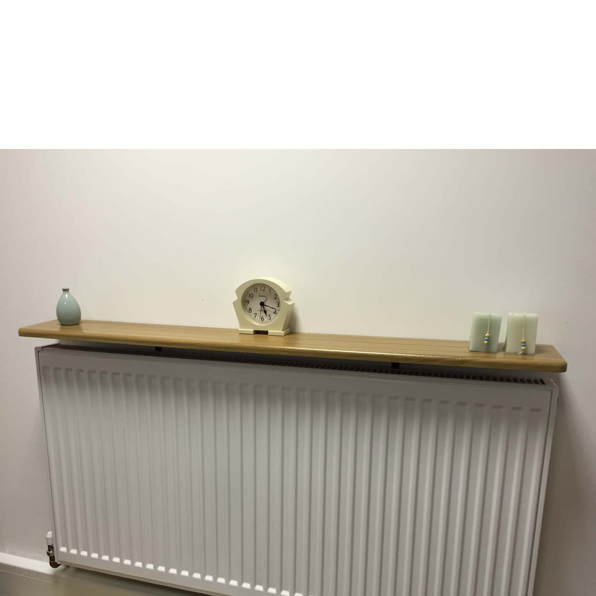 Rounded Radiator Shelf 1200x150x18mm Oak Mastershelf