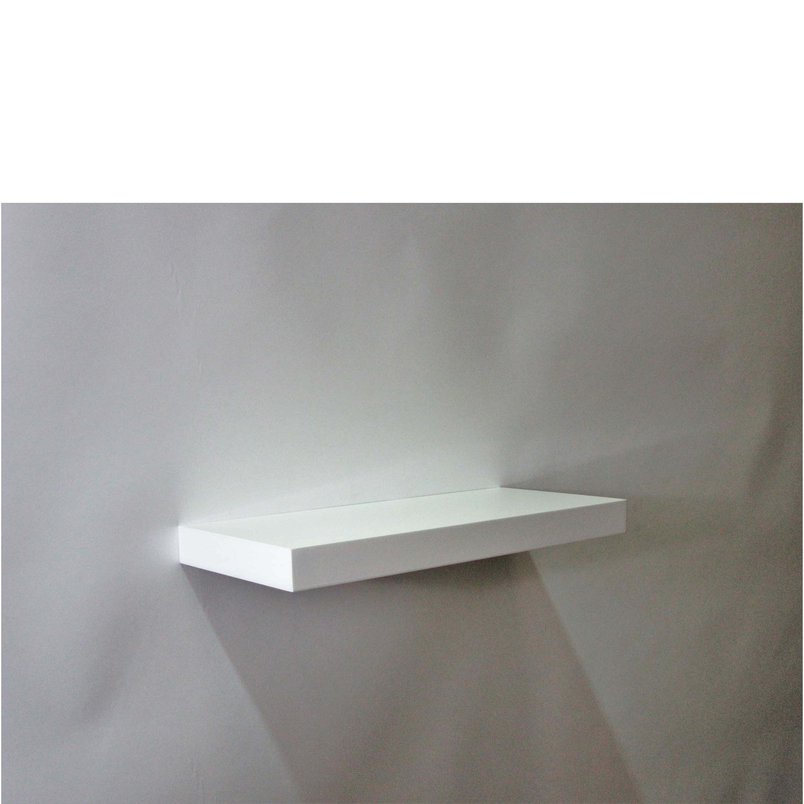 gloss white floating shelf 450x200x38mm mastershelf. Black Bedroom Furniture Sets. Home Design Ideas